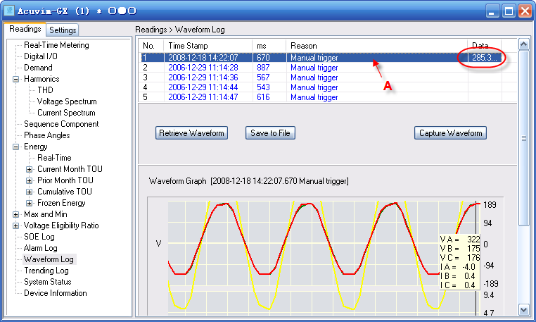 Demand Energy Monitoring Software : Accuview monitoring logging software energy insight